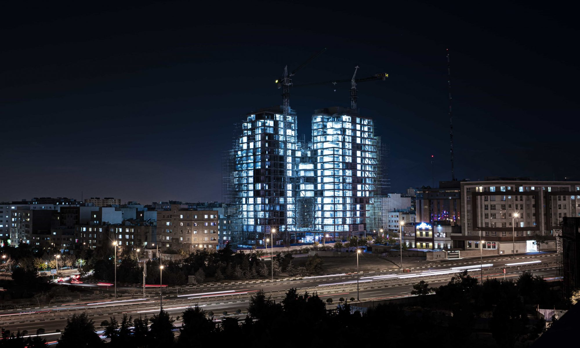 Mika Residential Twin Towers Construction Photo by Parham Raoufi